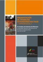 Cubierta para Presentación trabajos extensionistas Faud: aprobados , VI jornadas de Extensión del Mercosur