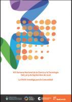 Cubierta para XVI Semana de la Ciencia y la Tecnología 2018: la FAUD investiga para la comunidad
